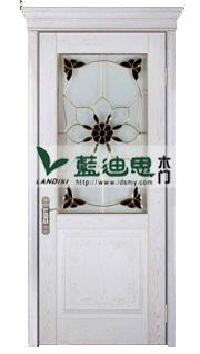 实木玻璃复合门