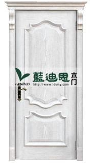 西罗马线条雕花白开放烤漆门