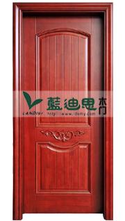 中国仿红木实木烤漆门