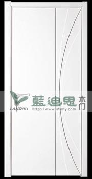 点线面现代极简主义实木复合烤漆门