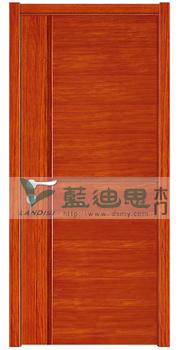 卧室柚木红复合烤漆门