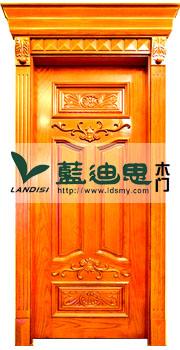 酒吧雕刻实木工程门(中式雕花+狮子柱+罗马线)工艺高价扣线实木烤漆门