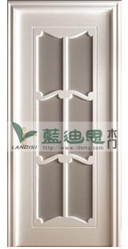 欧式复合优雅玻璃混油烤漆门