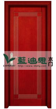 2015畅销红胡桃仿古实木烤漆门品牌 扣线烤漆门厂家批发lds085