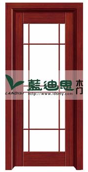 中高档现代磨砂玻璃复合烤漆门