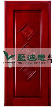 中国喜卧室实木烤漆门 仿红木实木烤漆门