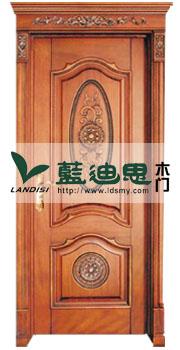 别墅酒店雕花烤漆门 欧式高档静音实木烤漆门