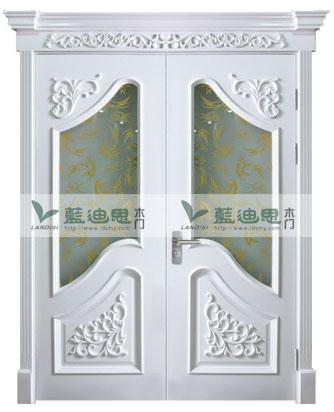 客厅对开门 白开放双开玻璃烤漆门 罗马风范