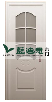 花园厅堂玻璃门 书房烤漆玻璃门 混油白色门