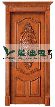 仿古铜扣线实木烤漆室内门 多款多色 平价多选