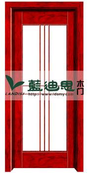 中式茶社玻璃复合烤漆门,柚木怀古色实木复合烤漆门,低廉价格平淡款式