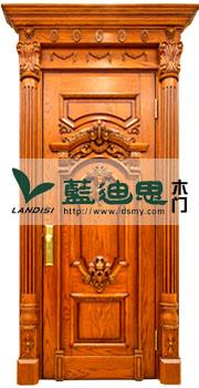 雕花实木烤漆门,高档酒店、别墅双面仿古实木门