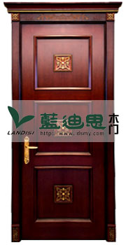 黑胡桃仿古欧式雕花实木烤漆门,驾驭高档(价格)贵族品味
