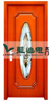 酒店花格玻璃烤漆门,实木玻璃扣线门,欧式室内工程门