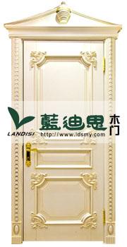 贵族英伦风扣线实木门,实木烤漆款式,镶金雕花定制厂家