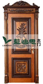 黑胡桃木皮实木烤漆门,雕花实木烤漆门批发,河南厂家全国招商加盟