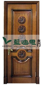 河南实木烤漆门厂家同心圆设计造型,中式风格,实木门芯特制