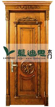金黄贵族仿古实木门,皇家打造经典风格仿古实木门品质