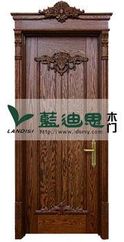 欧式核桃木实木烤漆门新价工艺,名牌招商知名烤漆门厂家