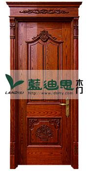松柚木原木纯实木门主材生产,河南实木烤漆门深雕雕花工艺