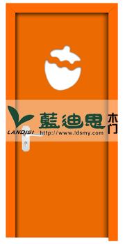 橘橙款型混油门,高档定制小学教室门,混油烤漆门出色出彩河南门厂抢售