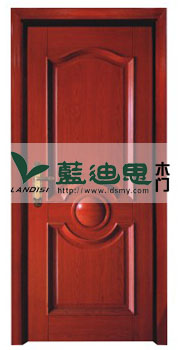 别致同心圆实木复合烤漆门&河南工厂深槽凹线工艺亮眼呈现