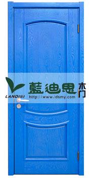 海军蓝对开实木烤漆门-清爽酒吧工艺门&河南工厂混油系列