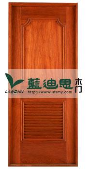 百叶+通风孔亮橘色河南复合烤漆门/贴纸皮小区供货
