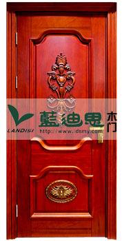 大红惯耳色雕花烤漆门100%有氧木材_河南骄傲品质门厂特宠