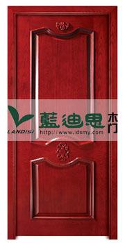 高档扣线室内复合烤漆门,大红色{河南门厂}凸出结构