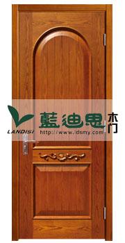 拱圆黄核桃木皮实木烤漆门,厂家双新设计时尚色<原材上料底价>出单