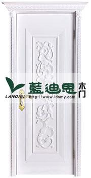 陶瓷白高档雕花混油烤漆门,子母尺寸定做,现代工匠手艺批发价位