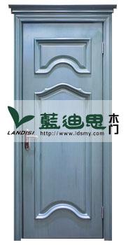 科技蓝现代扣线装板对开烤漆门,厚重4.5cm门扇[河南厂家直供货]