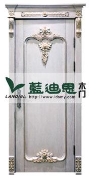 描金金吊坠时尚之心混油雕花烤漆门<白漆浮雕花>厂家匠心制造