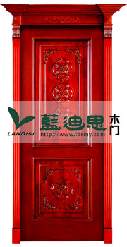 血色雕花凹线装板烤漆门(木皮贴面盛行)河南厂家主卖订造