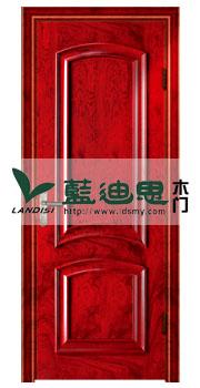 大红双圈扣线实木烤漆门,装嫩漆色柔滑做工,厂家多订数量下单