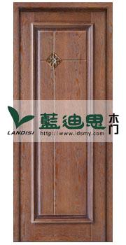 茶色仿古实木门雕花浮雕,个性定制[品质工匠]实用性价高