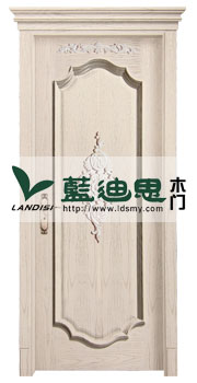 燕麦色深槽套装仿古实木门<厂家指定>名牌制造商