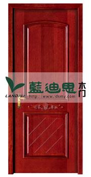 红橡色贴纸实木复合烤漆门,内衬平雕花,工厂精致设计交错线条排列