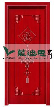 福来临字样中国传统设计贴皮复合烤漆门<红透半边天>河南国风系列