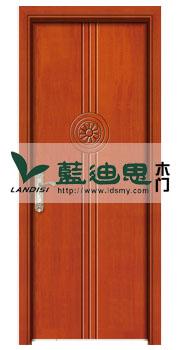 樱桃木暖色平板圆心复合烤漆门,中式色系品牌工厂悠久工艺打造