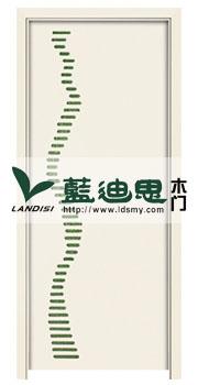 韩式风-点缀绿暖黄子母烤漆门—流行款,河南工厂可定做