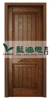 对生花-木皮咖啡开放实木雕花烤漆门[出厂品艺]物廉美价