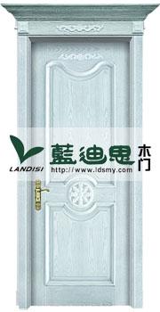 插色开放木皮扣线烤漆门[海之蓝亮颜色]出厂新颖品牌
