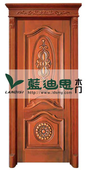 红衫木外压线实木烤漆门,厂家内外兼修设计(靓丽色彩)