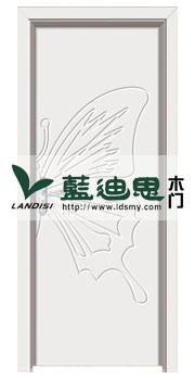 蝴蝶飞飞混油雕花烤漆门(规格定制)一比一供货定制