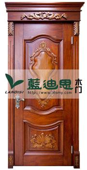 厚重气派实木雕花烤漆门(征信品牌)厂家直属授权